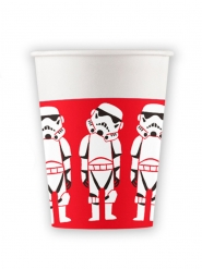 8 Vasos de cartón premium Star Wars™ 260 ml