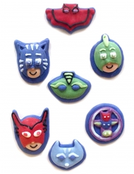 7 Mini figurillas de azúcar 2D PJ Masks™ 11 g