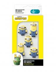 6 Mini figurillas de azúcar 2D Minions™ 19 g