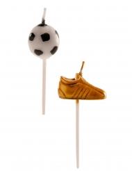 6 Velas balón y zapatos de fútbol 3-5 cm