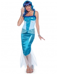 Disfraz sirena azul mujer