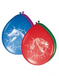 6 Globos de látex dinosaurios multicolor 30 cm