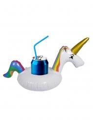 Mini boya para bebidas unicornio blanco