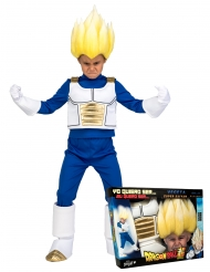 Disfraz Super Saiyajin Vegeta Dragon Ball™ niño con peluca