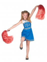 Disfraz animadora azul niña