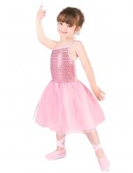 Disfraz bailarina estrella rosa niña