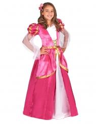 Disfraz princesa medieval rosa niña