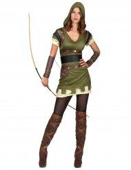 Disfraz arquera verde del bosque mujer