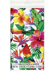 Mantel de plástico Palm Tropical Luau 137 x 213 cm