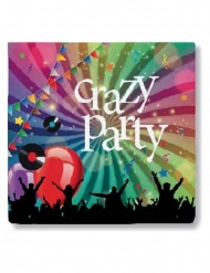 20 Servilletas de papel Crazy Party 33 x 33 cm