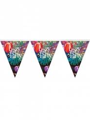 Guirnalda banderines de plástico Crazy Party 3.6 m