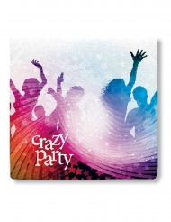 20 Servilletas de papel Crazy Party blanco 33 x 33 cm