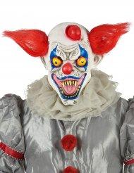 Máscara látex payaso rojo blanco y azul adulto