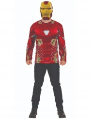 Camiseta y máscara Iron Man Infinity War™ adulto