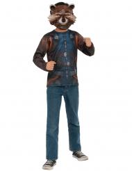 Camiseta y máscara Rocket Raccoon Infinity War™ adulto