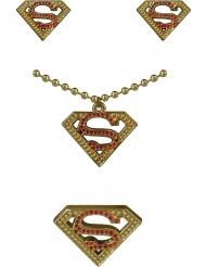 Kit pendientes, collar y anillo Supergirl™