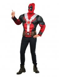 Camiseta con músculos y capuca Deadpool™ adulto