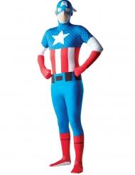 Disfraz segunda piel Capitán América™ adulto