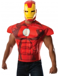 Disfraz pechera musculosa con máscara Iron Man™ adulto