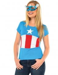 Camiseta y máscara Américan Dream Capitán América™ mujer