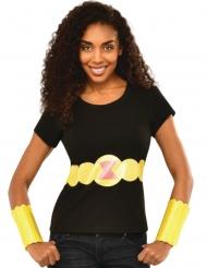 Camiseta y brazaletes Viuda Negra™ mujer