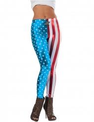 Leggings metalizados Capitán América™ mujer