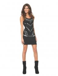 Vestido negro Pantera Negra™ mujer