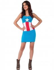 Disfraz vestido American Dream Capitán América™ mujer