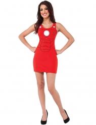 Disfraz vestido rojo Iron Man™ mujer