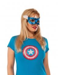 Antifaz Capitán América™ mujer