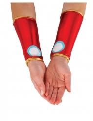Manguitos metalizados rojos Iron Man™ mujer