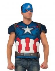 Kit de camiseta y máscara de lujo Capitán America™ adulto