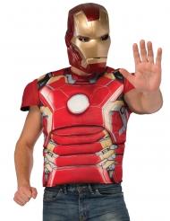 Pechera musculosa de lujo con máscara Iron Man™ adulto