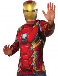 Camiseta y máscara Iron Man Captain America Civil War™ adulto