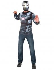 Camiseta y máscara Máquina de Guerra Capitán América Civil War™ adulto