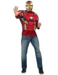 Camiseta musculosa y máscara Iron Man Capitán América Civil War™ adulto