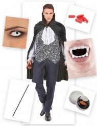 Pack disfraz vampiro ensangrentado hombre