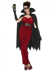 Disfraz condesa vampiro rojo mujer