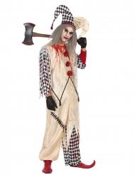 Disfraz arlequín ensangrentado hombre Halloween