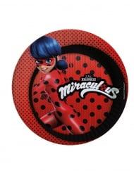 8 Platos planos de cartón Ladybug™ 23 cm