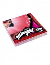 20 Servilletas de papel Ladybug™ 33 x 33 cm