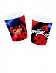 8 Vasos de plástico Ladybug™ 200 ml