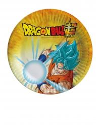 8 Platos pequeños de cartón Dragon Ball Super™ 18 cm