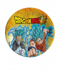 8 Platos de cartón Dragon Ball Super™ 23 cm