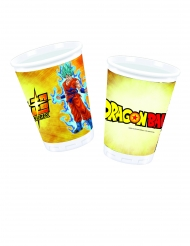 10 Vasos de plástico Dragon Ball Super™ 200 ml