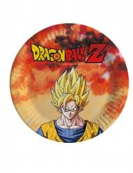 8 Platos de cartón pequeños Dragon Ball Z™ 18 cm