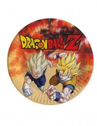 8 Platos de cartón Dragon Ball Z™ 23 cm