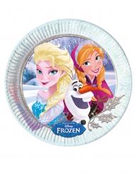 8 Platos de cartón hermanas Frozen™ 23 cm