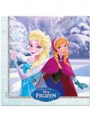 20 Servilletas de papel Frozen™ 33 x 33 cm