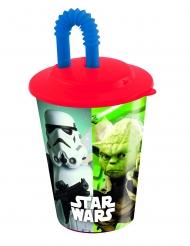 Vaso con pajita de plástico Star Wars™ 400 ml